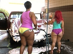 These two beautiful asses go pound for pound fucking and sucking.